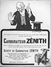 PUBLICITÉ SOCIÉTÉ DU CARBURATEUR ZÉNITH DEMANDEZ LE CATALOGUE