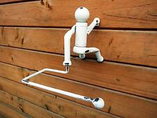 STUNNING DESIGN ABSEILING MAN TOILET ROLL HOLDER. Very Different!!