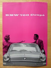 BMW 700 Coupe 1959 1960 rare UK Market brochure prospekt