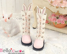 ☆╮Cool Cat╭☆【25-3】Blythe/Pullip Cute Bunny Ears 5 Hole Boots # Pink