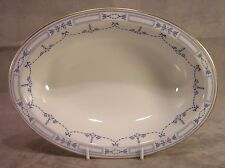 "Community China Grosvenor 10"" Oval Vegetable Bowl ~ Blue Ribbon and Swag"
