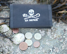 Cartera Sea Shepherd Jolly Roger, Negro