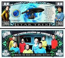 STAR TREK Billet MILLION DOLLAR US ! Collection Série TV SF SPOCK ENTERPRISE USA