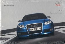 Audi RS4 2006-07 UK Market Hardback Sales Brochure Saloon Avant 4.2 V8 A4