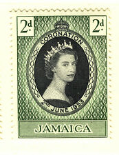 JAMAICA 1953 CORONATION BLOCK OF 4 MNH