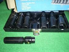 "8 PCE 3/8"" DRIVE DEEP IMPACT UNIVERSAL JOINT HEX  SOCKETS SET A.F."