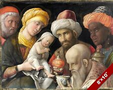 ADORATION OF THE MAGI FOR JESUS PAINTING CHRISTIAN BIBLE ART REAL CANVAS PRINT