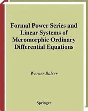 Formal Power Series and Linear Systems of Meromorphic Ordinary-ExLibrary