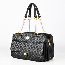 New listing Black Small Airline Pet Dog Carrier Purse Sided Cat Travel Tote Outdoor Handbag