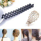 Black French hair braiding tool roller hook Magic hair Twist Styling Bun maker
