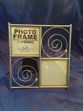 """Contemporary 6"""" By 6"""" Pewter Metal Gray Photo Frame Holds 3"""" by 3"""" Photos"""