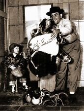 NEW YORK YANKEES STILL YOGI BERRA SIGNED AND YOUNG SON
