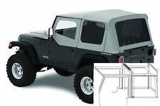 1987-1995 Jeep Wrangler Complete Soft Top Kit with Upper Doors & Tinted Windows