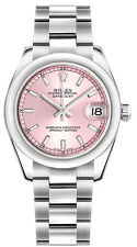 178240 | ROLEX LADY-DATEJUST 31 | AUTHENTIC PINK DIAL OYSTER WOMENS LUXURY WATCH