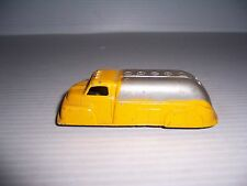 """VINTAGE TOOTSIETOY YELLOW & SILVER TANKER TRUCK TOOTSIE TOY 4 1/4"""" LONG"""