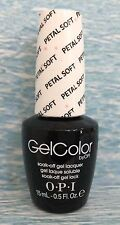 OPI GELCOLOR GC T64 PETAL SOFT Soft Shades pink & white glitter gel polish NEW
