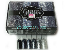 Fantasy Nails Sinaloa - Glitter it  Black Collection - 6pcs  To Apply W Acrylic