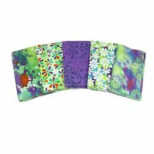 Windy Daze Fat Quarter Bundle di Verde & Viola Stampa-dalla tavolozza tessuto