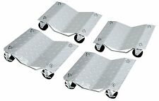 "Set of (4) 3"" Set Tire Wheel Dollies Dolly Vehicle Car Auto Repair Moving"