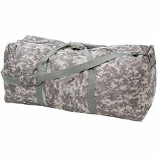 "Large 39"" Camo Duffle Bag, Mens Army Carry-On Overnight Luggage Travel Camp Tote"