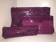 NEW! ESTEE LAUDER Cosmetic Clutch Bag Set Trio Fuschia & 15 Premium Samples