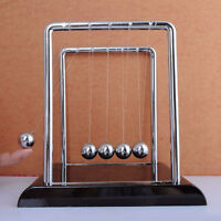 Newtons Cradle Steel Small Balance Balls Physics Science Pendulum Desk Teach Toy