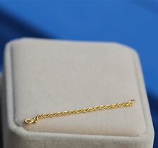 NEW 24K Yellow Gold Extended Rope Link Chain / 2cm Length