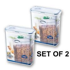 2 x Lock & Lock Food Storage Container Cereal Breakfast Dispenser 3.9L Air Tight