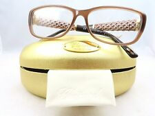 Chopard VCH 119 08YL Brown  23KT Gold Plated New Authentic Eyeglasses 55/15/140