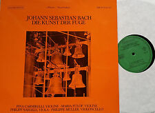 BACH Kunst der Fuge Art of Fugue Pina Carmirelli 2 LP Da Camera NM-M