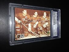 Maurice Richard Signed 1991-92 Pro Set Canadiens Card PSA Slabbed #83429593