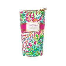 LILLY PULITZER TRAVEL Coffee MUG Spot Ya- double wall ceramic ECO cup w/lid