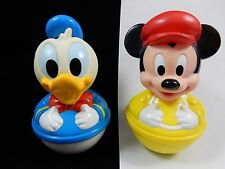 Disney Baby Donald Duck & Mickey Mouse Weeble Wobble Roly Poly Toy