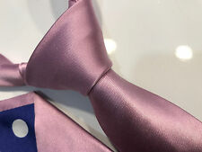 "Paul Smith Baby Pink Tie ""MAINLINE"" Rose Back 6cm Blade 100% Silk Made in Italy"