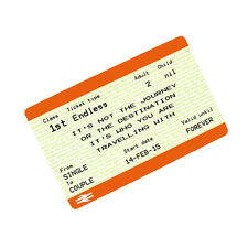 Personalised Metal Wallet Purse Card Keepsake Love Train Ticket Valentines Gift