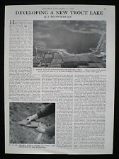 HANNINGFIELD RESERVOIR TROUT FISHING LAKE ESSEX 1pp PHOTO ARTICLE 1967