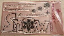 Nuevo Woodware 'enorme NIEVE' Navidad Claro Sellos FRS248