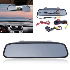 Car TFT LCD Monitor Mirror+Wireless Reverse Car Rear View Backup Camera Kit 4.3""