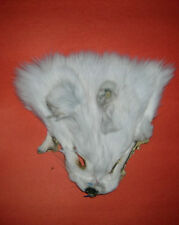WHITE FOX FUR FACE MASK