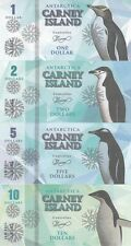 Carney Island Set of 8 banknotes 2016 - Penguins (Private issue)