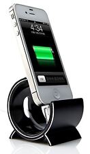 Sinjimoru Negro Aluminio Sync Stand Dock Holder Soporte Para Apple Iphone 6