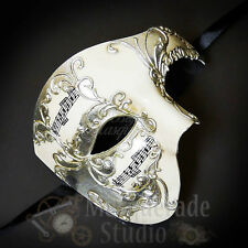 Mens Musical Half Phantom of the Opera Venetian Masquerade Ball Mask [Silver]