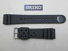 Genuine Seiko SKX173 dive black rubber watch band strap 22mm lug Z-22 4F24ZZ