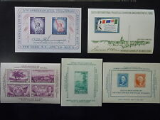 1936-66 #778, 797, 948, 1075, 1311 International Philatelic Exhibition SS MNH