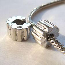 Stopper fermaperle a clips - 10 x 6 mm - color argento mod2
