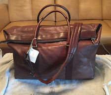 NWT 2016 Brunello Cucinelli Brown Leather Carry-On Travel Bag $3975