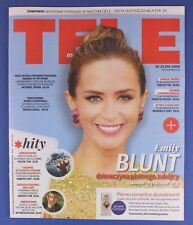 EMILY BLUNT  mag.FRONT cover Poland  TELE MAGAZYN  Sherlock Holmes