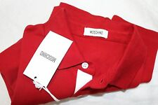 NEW Moschino Red Slim Fit Polo Shirt Heart Logo Size Large $378.00