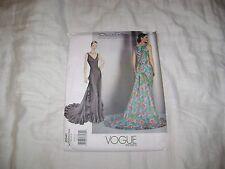Vogue Pattern 2541 Rare Uncut Oscar de la Renta Evening Gown Sizes 8-10-12