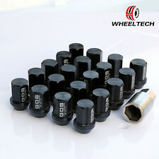 20pcs Black Aluminum tuner M12x1.5 35mm for HONDA FORD TOYOTA KIA Wheel Lug Nuts